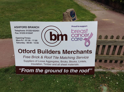 Otford Builders Merchants Raise Money For Breast Cancer Care