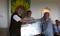 The Caldecott Foundation receiving a Cheque for £1,820.00