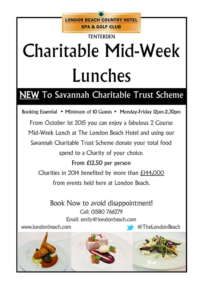 Charitable Midweek Lunches