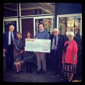 Charity Donation to Tenterden Day Centre