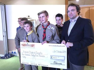 Tenterden Scouts receive a donation
