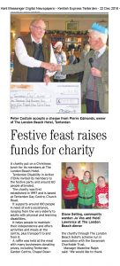 Tenterden Day Centre receiving a cheque