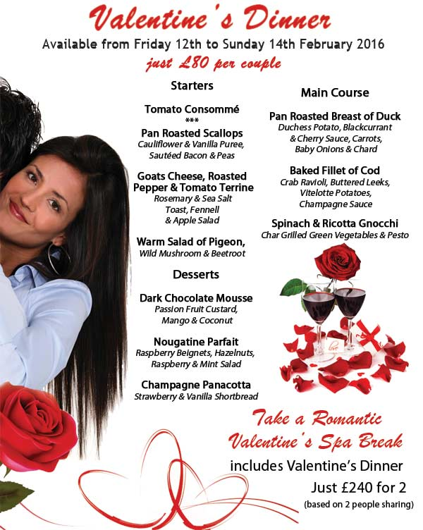 Valentine's dinner & romantic spa break