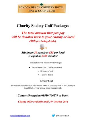 Golf Society Charity Offer