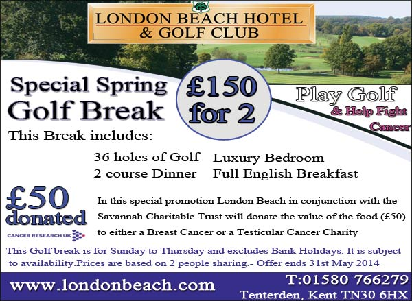 Charity Golf Break for Cancer Research