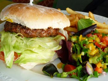 Beef Burger & Chips