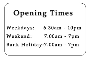 Gym opening times