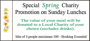 Charity Sunday Lunch Offer