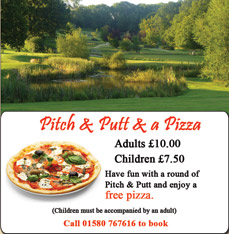 Special Offer pitch & putt and a pizza